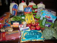 An example grocery run for a week on a $50 budget. (Feeds two adults and two children.) grocery budgets
