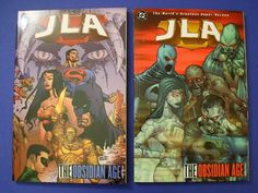 Justice League Of America OBSIDIAN AGE Volume s 1 2 DC Comics Softbound 2003 First Printing s The comics graphic novels are complete with no loss