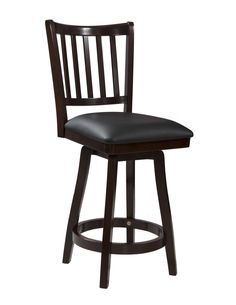 "Big and Tall 24"" Swivel Bar Stool with Cushion"