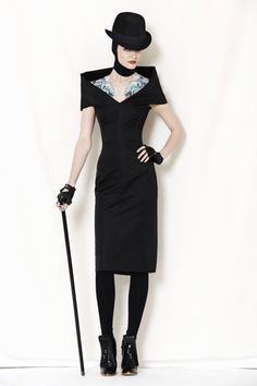 I love the ink on this model for Alexander McQueens pre-fall collection 2009