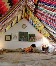 It would be weird to build a permanent blanket fort in my future house, right?  Right. So I won't be doing that.  No sir.