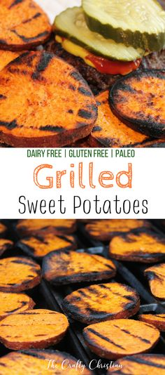 Grilled sweet potatoes are full of nutrients, easy to make, and a fantastic, healthy, paleo side dish for any summer barbecue get together with friends. via @craft_christian