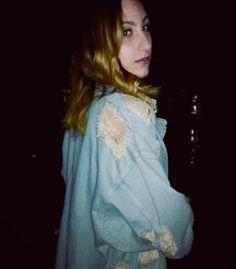 Oversize denim jacket by @zara