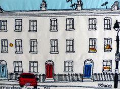 Row of houses Bermondsey Square SE1 London England by lemonyjen