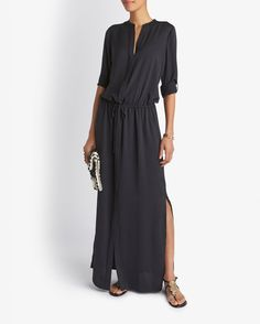 Vince Shirt Maxi Dress: Black | Shop IntermixOnline.com