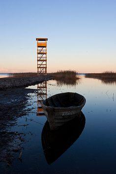 Tarvastu polder, bird watching tower, Estonia