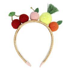 Tejidos : Rafia * Detalles : Pompones * 16,5 x 20,3 cm - Marca: Meri Meri|- Género: Niña|- Color: Multicolor Funky Fruit, Colorful Fruit, Bunny Ears Headband, Ear Headbands, Pom Pom Headband, Funny Kid Costumes, Fancy Dress For Kids, Eco Friendly Paper, Partys