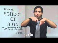 marios shows you how to sign sports in British Sign Language, f you have any questions please dont hesitate to ask, were always happy to help:) Sign Language For Kids, British Sign Language, Language School, Sign Language Interpreter, Sports Signs, Bsl, School Teacher, Learning, Youtube