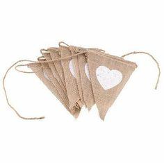 13pcs Flags Love DIY Burlap Banner kit, DIY Wedding Banner, DIY Burlap Bunting