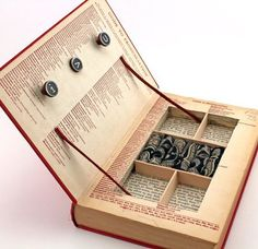 """Vintage Book Jewelry Box. Unique, Recycled. """"A Handbook To Literature."""" Wooden Typewriter Keys. Handmade by Kiss Every Comma on Etsy.:"""
