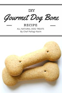 DIY Gourmet Dog Bone Treats. A delicious homemade snack for the furry friend in our life. #homemadedogtreats #DIYdogrecipes