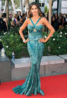 Sofia Vergara brought some va-va-voo to the 2012 Emmy red carpet in this shimmering Zuhair Murad gown