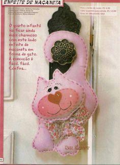Eu Amo Artesanato: Enfeites de maçaneta(moldes do gatinho, cachorrinho, coelhinho, elefante, leão, macaco, porquinho, ratinho, tigre, urso, vaquinha)