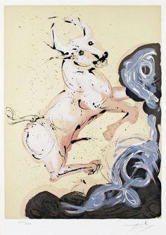 Les signes du zodiaque par Salvador Dali   les 12 signes du zodiaque par salvador dali taureau