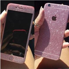 Fancy Glittered Sticker Decal in Rose Pink! Also available in different colors. <3