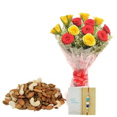 Check out our New Product  Half kg Dryfruits Rakhi Hamper No Flower COD 12 Red and Yellow Roses, 500gm Mixed dryfruits along with One Rakhi and Roli Chawal.  Rs.1,399