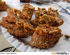 Pikantní pomazánka z cukety No Salt Recipes, Food 52, Chutney, Tandoori Chicken, Healthy Snacks, Good Food, Food And Drink, Low Carb, Vegetarian