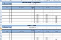 accounts ledger template excel
