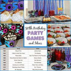 50 birthday party for male   50th birthday party games and ideas from playpartypin.com #party #50th ...