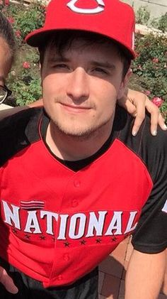 Josh Hutcherson at the MLB All-Star Legends & Celebrity Softball Game in Cincinnati, July 12, 2015