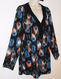 NYDJ XL Top NEW Black Ikat Tunic Blouse NEW Not Your Daughters Jeans…
