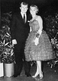 Prom night 1962 .. Love her gloves with the wrist corsage.