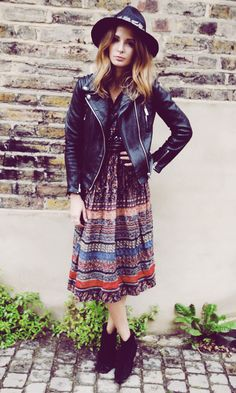 Millie Mackintosh Adds A Boho Touch To Her Look In London, 2013