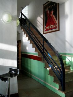 fantastic Art Deco staircase