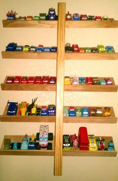 Shelf for CARS disney. This would be perfect for her cars!!