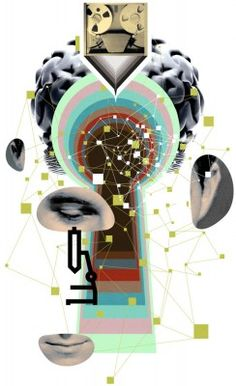 Illustration by Stuart Bradford for The Chronicle of Higher Education on Big Data and Neuroscience. Scott Seymour AD.