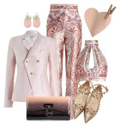 """""""Show"""" by ebramos ❤ liked on Polyvore featuring mode, Zimmermann, Christian Louboutin en Valentino"""