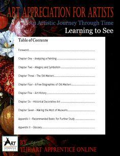 Art Apprentice Online - E-Book - Art Appreciation For Artists By Art Apprentice Online, $9.99 (http://store.artapprenticeonline.com/e-book-art-appreciation-for-artists-by-art-apprentice-online/)