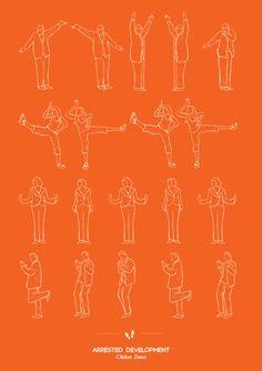 Pop Culture Dance Posters: Arrested Development - Chicken Dance