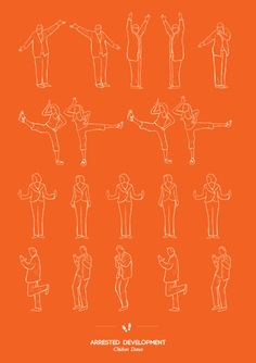 Pictorials of famous pop culture dances. Arrested Development's chicken dance. More at link