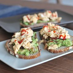 The ultimate comfort brunch. Guacamole with chorizo and eggs on fresh sourdough bread. To top it off a dash of sriracha for that kick!