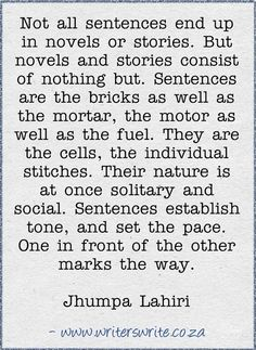 Read more about Jhumpa Lahiri here ~~~ Writers Write offers the best writing courses in South Africa. Writers Write - Write to communicate. Writing Art, Writing Quotes, Creative Writing, Writing Tips, Writing Prompts, Writers Desk, Writers Write, Jhumpa Lahiri, Writing Motivation