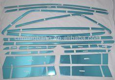 car accessory chromium styling For eco sport 2013 window frame trims window garnish strip window pillar 2013 new accessories