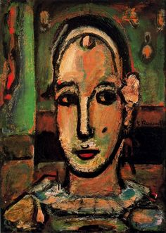 Pierrot (1948) Georges Rouault -repinned by http://LinusGallery.com  #art #artists #oilpainting