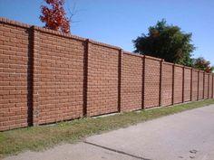 brick fence designs
