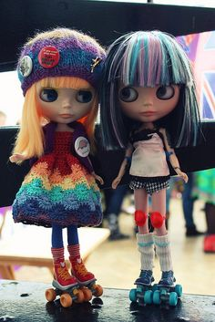 Roller Derby Blythes @ Blythecon UK by KidCrayola, via Flickr
