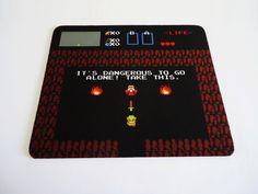 Zelda mouse pad. $12.00, via Etsy.