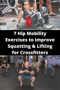 7 Hip Mobility Exercises to Improve Squatting & Lifting for Crossfitters Squat Workout, Best Cardio Workout, Workouts, Hip Mobility Exercises, Hip Stretches, Nutrition Crossfit, Crossfit At Home, Psoas Muscle, Better Posture