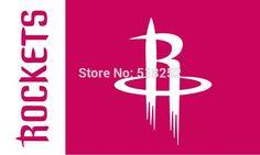 Houston Rocket: Team and Logo Flag; 3'x5'