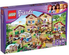 LEGO Friends Summer Riding Camp Head off to Summer Riding Camp with the LEGO Friends! Spend the summer at the LEGO Friends Summer Riding Camp! Lego Girls, Toys For Girls, Kids Toys, Shopkins, Legos, Minibus, Lego Friends Sets, Spiderman, Summer Set