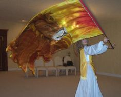 Praise And Worship Flags | Lion of Judah Flag, telescoping pole sold separately, measures 6.5 ft ...