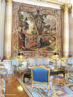 Salon Pompadour of Elysee Palace , Paris, France French Interior, Classic Interior, French Decor, Elysee Palace, Palais Du Luxembourg, Palace Interior, Rococo, Baroque, Art Decor