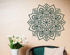 Mandala muur sticker Sticker Mandala Vinyl muur door HomyVinyl
