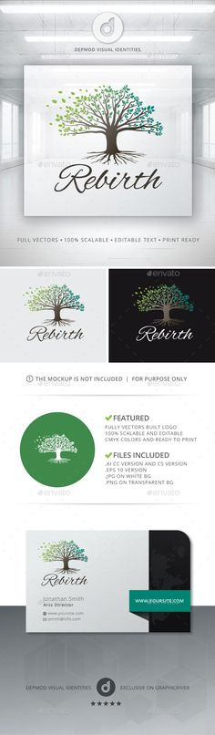 Rebirth Logo — Vector EPS #resort #season • Available here → https://graphicriver.net/item/rebirth-logo/13555418?ref=pxcr