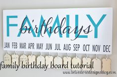 Hello, Lovelies! Happy Wednesday!I am so excited to share with you all another great tutorial using vinyl from Belvedere Designs. This family birthday board is a creative and&nb…