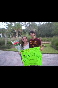 Asking my wonderful best friend to homecoming last year!